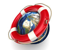 Ratować planety ziemię Zdjęcia Stock