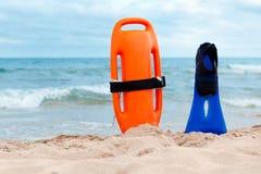 Ratowania wyposażenie na plaży Fotografia Royalty Free