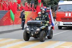 Ratowniczy ATV garnizon pożarnicza ochrona w Pyatigorsk, Rosja zdjęcie stock