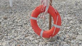 Ratowniczy boja na plaży lifebuoy zbiory wideo