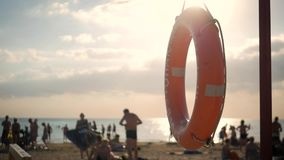 Ratowniczy boja na plaży lifebuoy zbiory