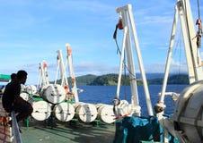 Ratowniczy namioty na oceanu statku Zdjęcie Royalty Free