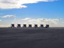 Ratownik basztowa buda na Wenecja plaży w Kalifornia obrazy royalty free