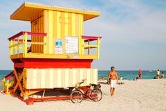 Ratownik buda, Miami plaża zdjęcie stock