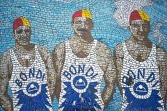 Ratownik mozaiki ławka w bondi plaży Sydney Australia Zdjęcia Stock