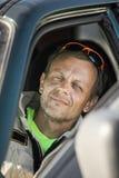 Ratownik na obowiązku w samochodzie Obraz Stock