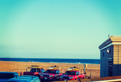 Ratownik przewozi samochodem w newport beach Fotografia Stock