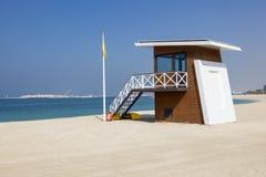 Ratownik stacja na plaży w Dubaj Zdjęcia Stock