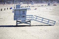 Ratownik stacja 16 przy Snata Monica plażą obrazy stock