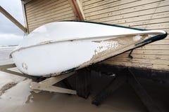 Zimy kipieli łódź Obrazy Royalty Free
