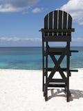 Ratownika krzesło przy Tropikalną plażą Zdjęcie Royalty Free