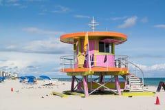 Ratownika Miami stacyjna plaża Zdjęcia Royalty Free