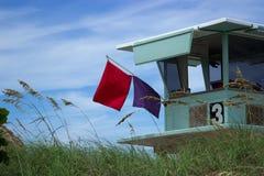 Ratownika ostrzeżenia flaga Obrazy Royalty Free