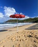 Ratownika parasol w Biodola Obraz Stock