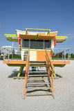 ratownika plażowa Miami na posterunek Obraz Royalty Free