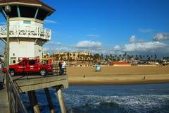 Ratownika wierza, Huntington plaża Obraz Royalty Free