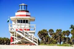 Ratownika wierza, Miami plaża, Floryda fotografia royalty free