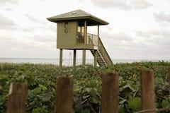 Ratownika wierza w Delray plaży, Floryda obraz stock