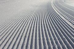 Ratrac track on snow Stock Photo