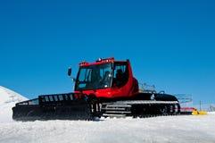 ratrack κόκκινο σκι διαδρομών Στοκ Φωτογραφίες