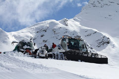 Ratrak, grooming machine, special snow vehicle Royalty Free Stock Photography