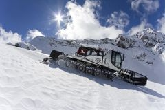 Ratrak, grooming machine, special snow vehicle Stock Photo