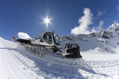 Ratrak, grooming machine, special snow vehicle Royalty Free Stock Image