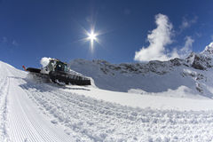 Ratrak, grooming machine, special snow vehicle Stock Photos