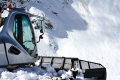 Ratrak, grooming machine, special snow vehicle Stock Image
