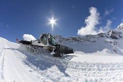 Ratrak, macchina governare, veicolo speciale della neve Fotografia Stock