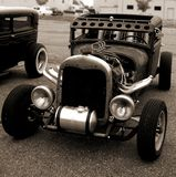 Ratrod Hotrod in Sepia Stock Photo