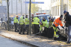 RATS-ARBEITSKRÄFTE COPENAHGEN CITYHALL Lizenzfreie Stockfotos