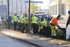 RATS-ARBEITSKRÄFTE COPENAHGEN CITYHALL Stockfotos