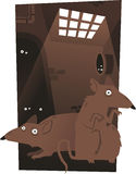 Rats dans les tunnels Image libre de droits