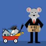 Rats Life Problems. The flat design illustration of Rats Life Problems Stock Images