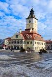 Rats-Quadrat in Brasov, Rumänien - Winterzeit Stockbilder