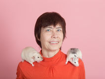 Rats on shoulders Royalty Free Stock Photos