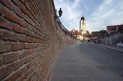 Rats-Turm in Sibiu Stockfotografie