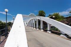 Ratsadaphisek Bridge is The oldest concrete bridge in Lampang th. Ailand Stock Photos