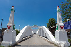 Ratsadaphisek Bridge is The oldest concrete bridge in Lampang th. Ailand Royalty Free Stock Image