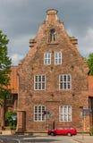Ratsbucherei de construction historique au centre de Luneburg Images libres de droits