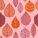 Ratser seamless pattern with leaf,vautumn leaf background Stock Photos