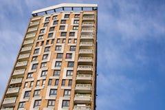 Ratshäuser in einem großen Wolkenkratzer in London Stockfotografie