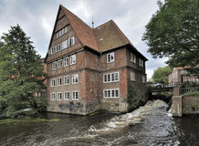 Ratsmuhle, Luneburg, Germany. Ratsmuhle building on Ilmenau river, Luneburg, Germany Royalty Free Stock Photos