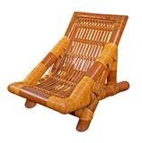 Rattan armchair isolated on white Royalty Free Stock Photography