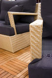 Rattan armchair and sofa Stock Images