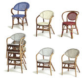 Rattan armchairs Royalty Free Stock Images