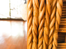Rattan background texture weave, handmade. Royalty Free Stock Photo