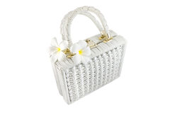 Rattan bag Royalty Free Stock Photography