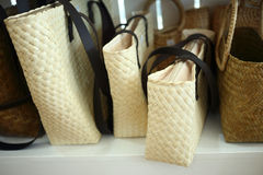 Rattan bag Stock Photography